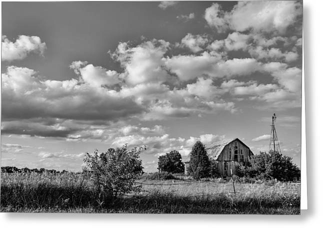 Illinois Barns Photographs Greeting Cards - Weather Barn Greeting Card by Lauri Novak