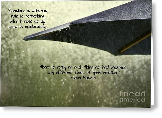 April Showers Greeting Cards - Weather Greeting Card by Peggy J Hughes