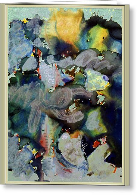 Weather Report- Hurricane Warning Greeting Card by Guy Ciarcia
