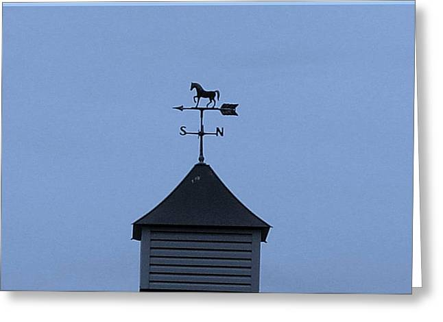Wind Direction Greeting Cards - Weather Vane Greeting Card by Karen Wallace