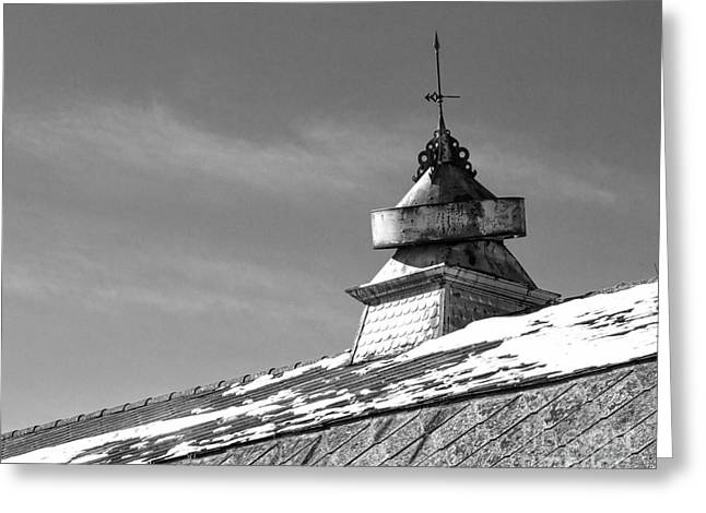 Weathervane Greeting Cards - Barn Cupola and Weather Vane Greeting Card by Kent Taylor