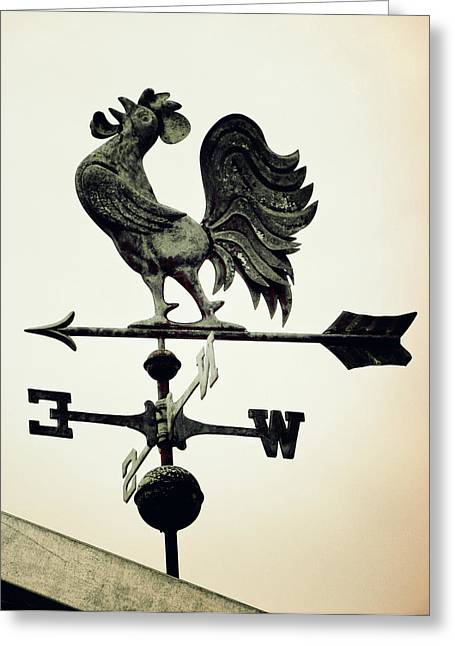 Weather Cock Greeting Cards - Weather Vane - Vintage Greeting Card by Pamela Critchlow