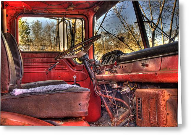 Old Truck Photography Greeting Cards - Weathered and Worn  Greeting Card by Thomas Young