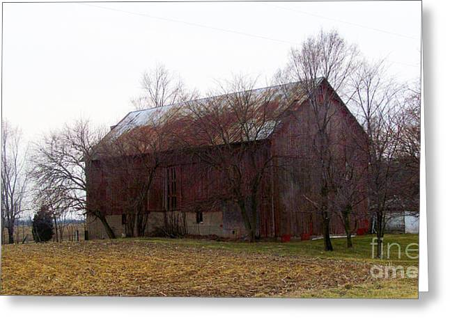 Moral Greeting Cards - Weathered Barn Roof Greeting Card by Tina M Wenger