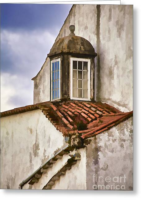 Weathered Building Of Medieval Europe Greeting Card by David Letts