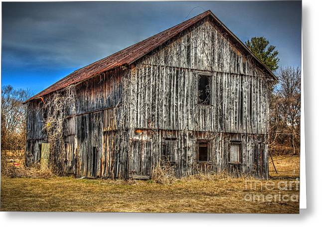 Shed Digital Art Greeting Cards - Weathered Greeting Card by Dan Stone