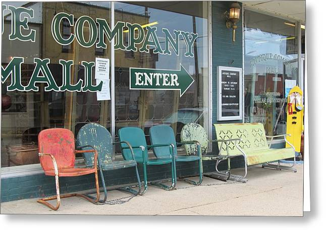 Lawn Chair Greeting Cards - Weathered Old Lawn Chairs Greeting Card by Donna Wilson
