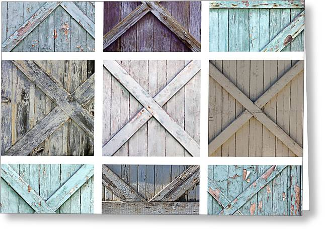 Montage Art Greeting Cards - Weathered Paint Greeting Card by Art Block Collections