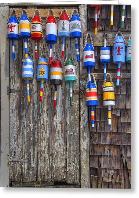 Gray Building Greeting Cards - Weathered Rockport Greeting Card by Joann Vitali