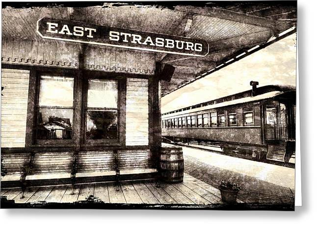 Strasburg Greeting Cards - Weathered RR Station Greeting Card by Paul W Faust -  Impressions of Light