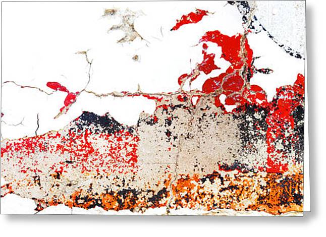 Paint Photograph Greeting Cards - Weathered Sign Pano 2094 5 6 Greeting Card by Bob Hills