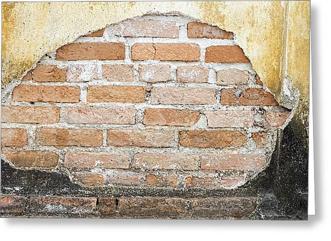 Stonewall Greeting Cards - Weathered Wall Greeting Card by Nomad Art And  Design