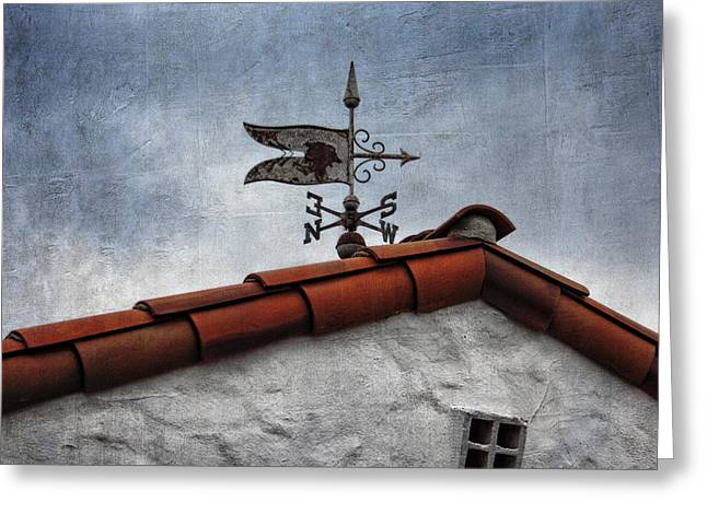 Black Top Greeting Cards - Weathered Weathervane Greeting Card by Carol Leigh