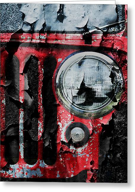 Industrial Icon Photographs Greeting Cards - Weathered Willys Greeting Card by Luke Moore