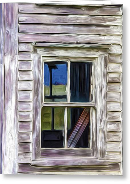 Up For Repairs Greeting Cards - Weathered Window 1 Greeting Card by Patsy Zedar