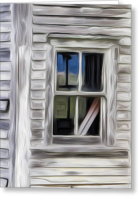 Up For Repairs Greeting Cards - Weathered Window 2 Greeting Card by Patsy Zedar