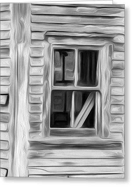 Up For Repairs Greeting Cards - Weathered Window 3 Greeting Card by Patsy Zedar