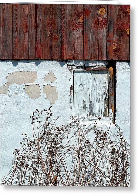 Mo Ranch Greeting Cards - Weathered Window Greeting Card by Deena Stoddard
