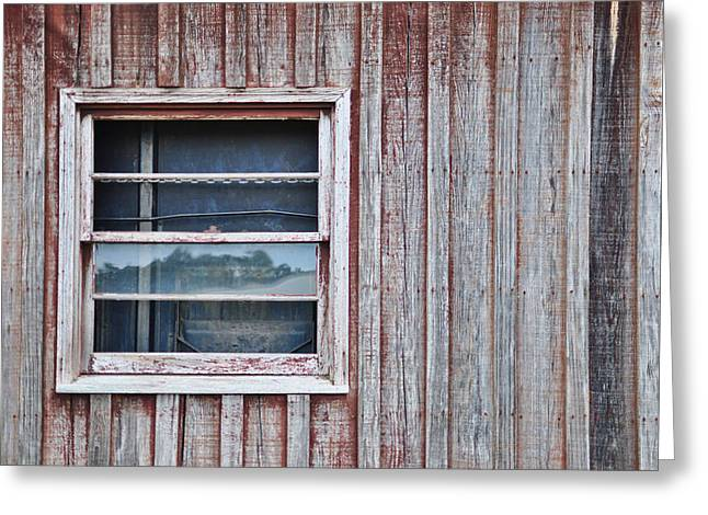 Shed Digital Art Greeting Cards - Weathered Window I I Greeting Card by Paulette B Wright
