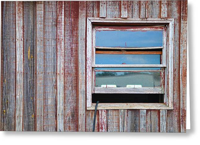 Shed Digital Greeting Cards - Weathered Window I Greeting Card by Paulette B Wright