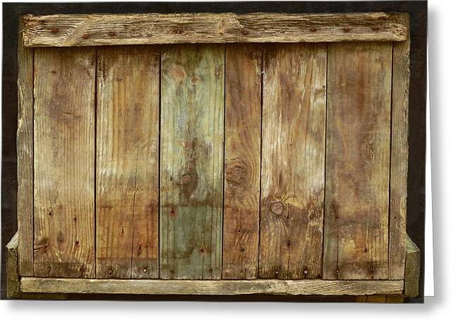 Unpainted Greeting Cards - Weathered Wood Box Greeting Card by Muriel Levison Goodwin