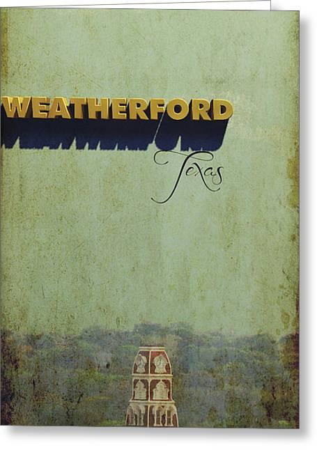 Main Street Greeting Cards - Weatherford Texas Greeting Card by Jim Sanders