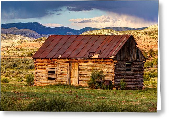 Pioneer Homes Photographs Greeting Cards - Weathering The Storm Greeting Card by James Marvin Phelps