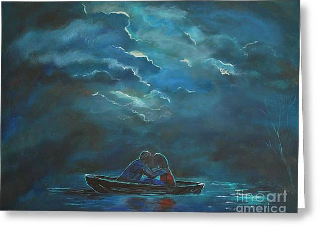 Weathering The Storm Greeting Card by Leslie Allen
