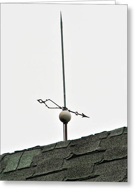 Weathervane Greeting Cards - Weathervane - Arrow and Lightning Rod Greeting Card by Wayne Sheeler