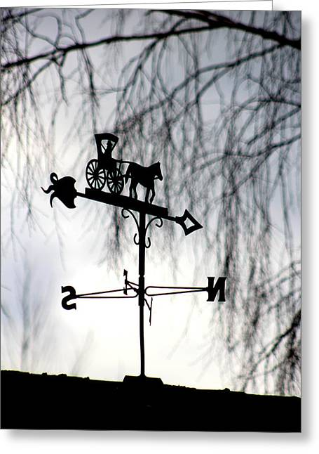 Weathervane Greeting Cards - Weathervane Greeting Card by Dancingfire Brenda Morrell