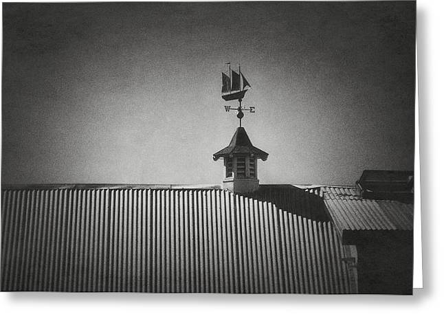 Ships Compass Greeting Cards - Weathervane Greeting Card by Kurt Golgart