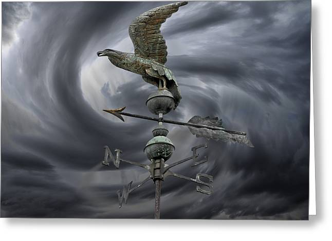 Weathervane Greeting Card by Steven  Michael