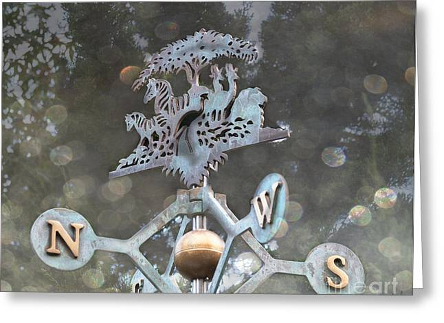 Weathervane Digital Art Greeting Cards - Weathervane Greeting Card by Victoria Harrington