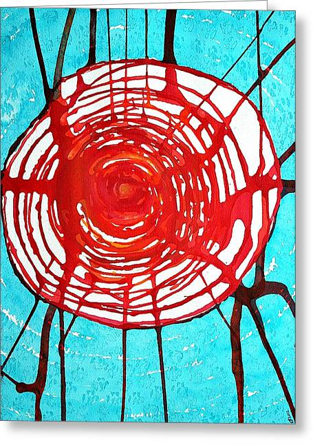 Metaphysics Greeting Cards - Web of Life original painting Greeting Card by Sol Luckman