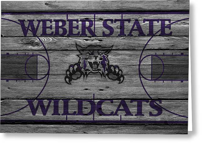 Division Greeting Cards - Weber State Wildcats Greeting Card by Joe Hamilton