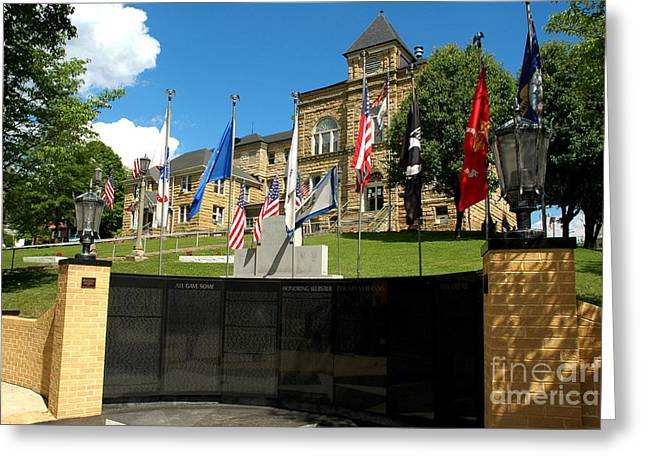 Webster Springs Greeting Cards - Webster County Courthouse Greeting Card by Thomas R Fletcher