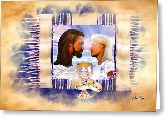 Messianic Art Greeting Cards - Wedded to the King Greeting Card by Jennifer Page