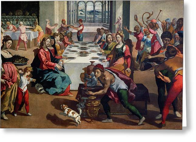 Feasting Greeting Cards - Wedding at Cana Greeting Card by Andrea Boscoli