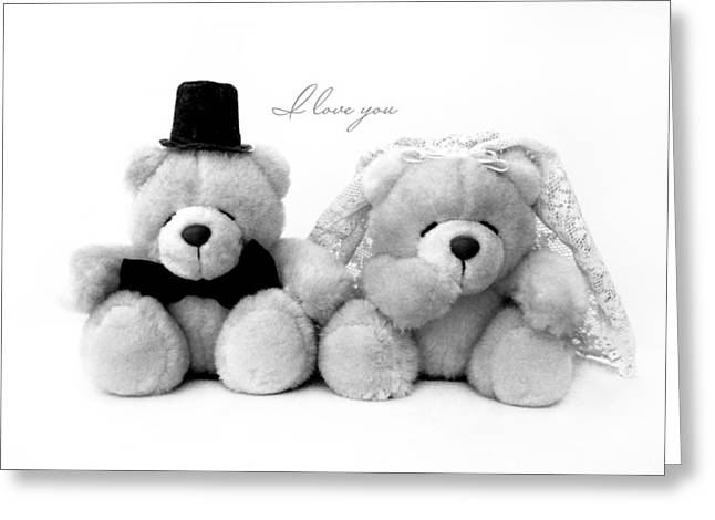 Pair Greeting Cards - Wedding bears Greeting Card by Gina Dsgn