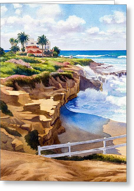 Southern California Beach Greeting Cards - Wedding Bowl La Jolla California Greeting Card by Mary Helmreich