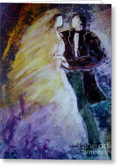 Betrothed Greeting Cards - Wedding Dance Greeting Card by Deborah Nell