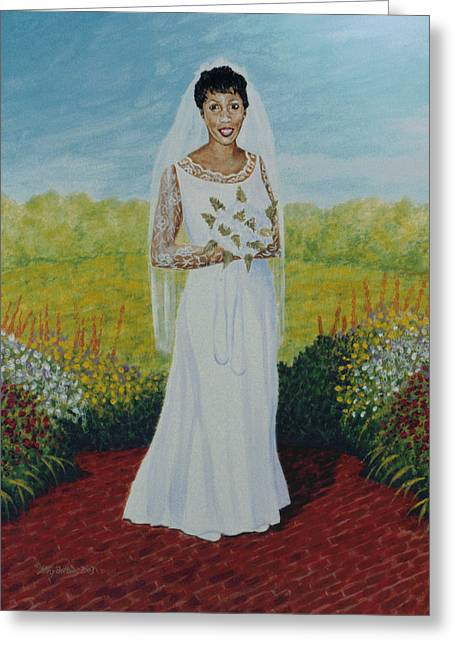 Stacy Bottoms Greeting Cards - Wedding Day Greeting Card by Stacy C Bottoms