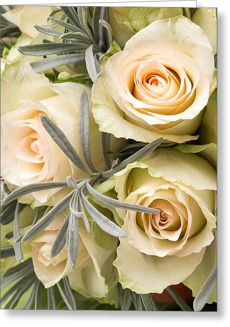 Occasion Photographs Greeting Cards - Wedding Flowers Greeting Card by Wim Lanclus