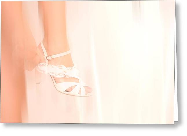 Wedding Photography Greeting Cards - Wedding. Getting Ready Greeting Card by Jenny Rainbow