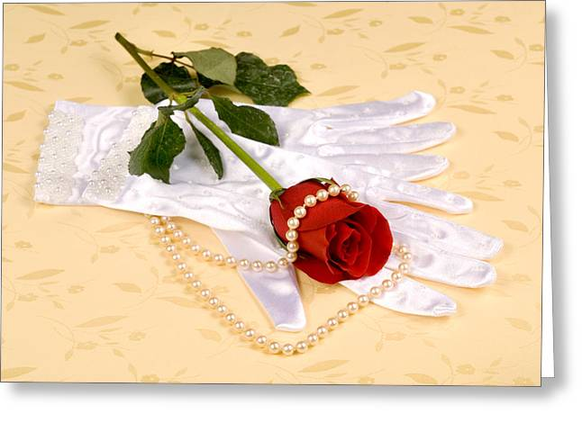 Inference Greeting Cards - Wedding gloves Greeting Card by Joe Belanger