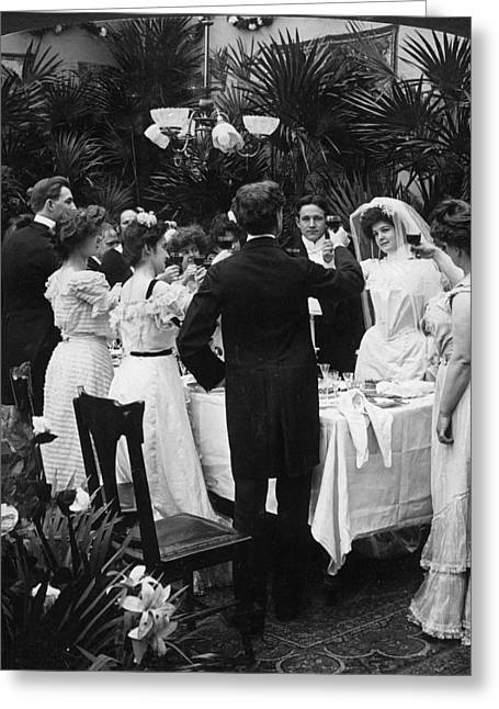 Toast Greeting Cards - Wedding Party, 1904 Greeting Card by Granger