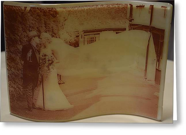 People Glass Greeting Cards - Wedding Photograph Greeting Card by Rosalind Duffy