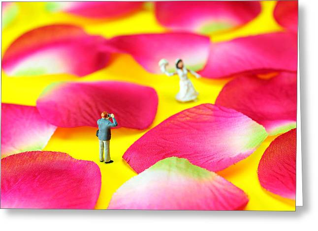 Petal Greeting Cards - Wedding Photography Little People big worlds Greeting Card by Paul Ge