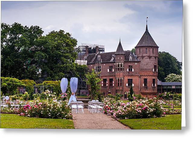 Wedding Setting in De Haar Castle. Utrecht Greeting Card by Jenny Rainbow