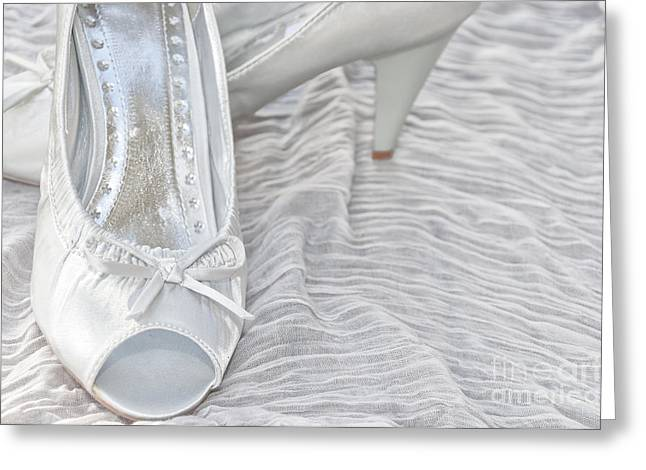 Wedding Shoes Greeting Card by Antony McAulay